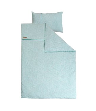 Little Dutch Dekbedovertrek ledikant - Mint Melange (100 x 140 cm) | Little Dutch