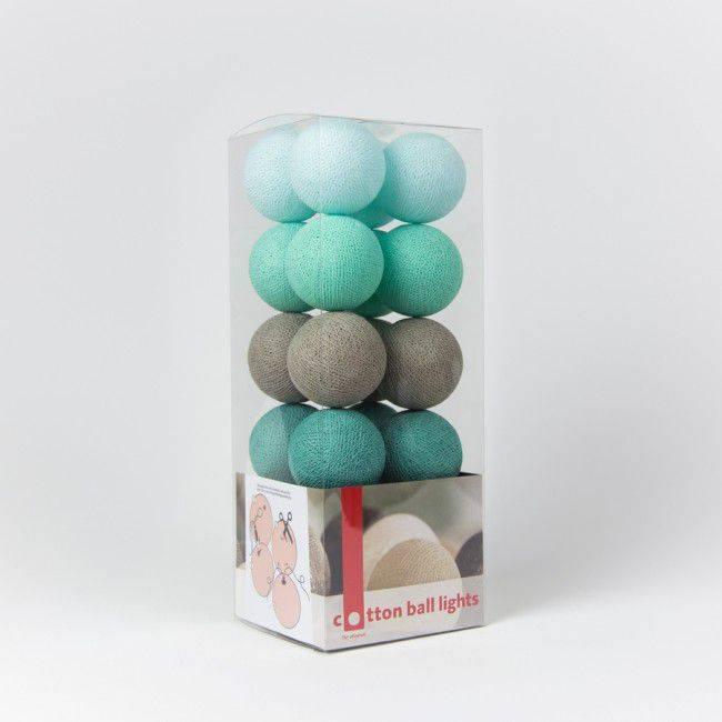 cotton ball lights lichtslinger mint online kopen kids. Black Bedroom Furniture Sets. Home Design Ideas