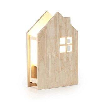 Miniwoo Houten kinderlamp huis  | Miniwoo