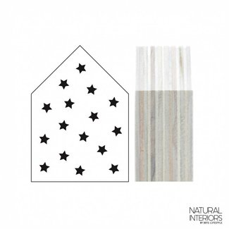 Dots Lifestyle Houten Huisje Stars Wit | Dots Lifestyle