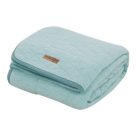 Little Dutch Dekentje ledikant Pure & Soft - Mint Melange (110 x 140) | Little Dutch