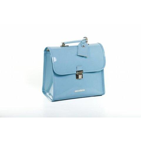 Laklederen kleuterboekentasje Azzurro | Escudama
