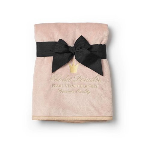 Dekentje Pearl Velvet Powder Pink | Elodie Details