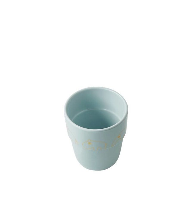 Done by Deer Drinkbeker Yummy Mug Contour - Goud Blauw | Done by Deer