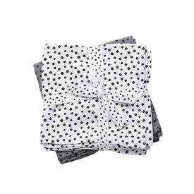 Done by Deer Tetradoeken - Hydrofiele doeken Happy Dots Grey (Small) | Done by Deer
