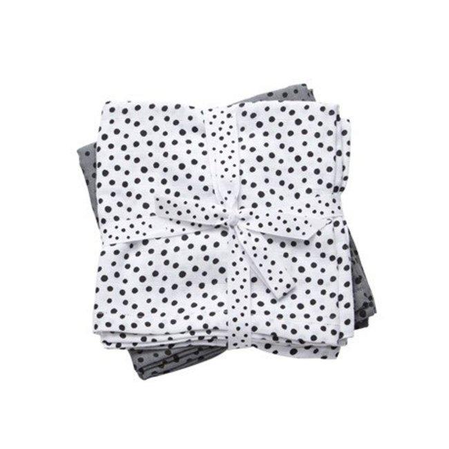 Done by Deer Tetradoeken - Hydrofiele doeken Happy Dots Grey (Small)   Done by Deer
