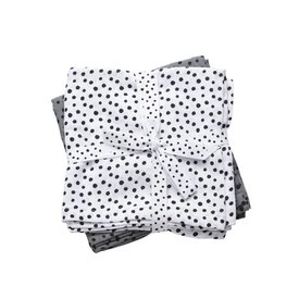 Done by Deer Tetradoeken - Hydrofiele doeken Happy Dots Grey (Large) | Done by Deer