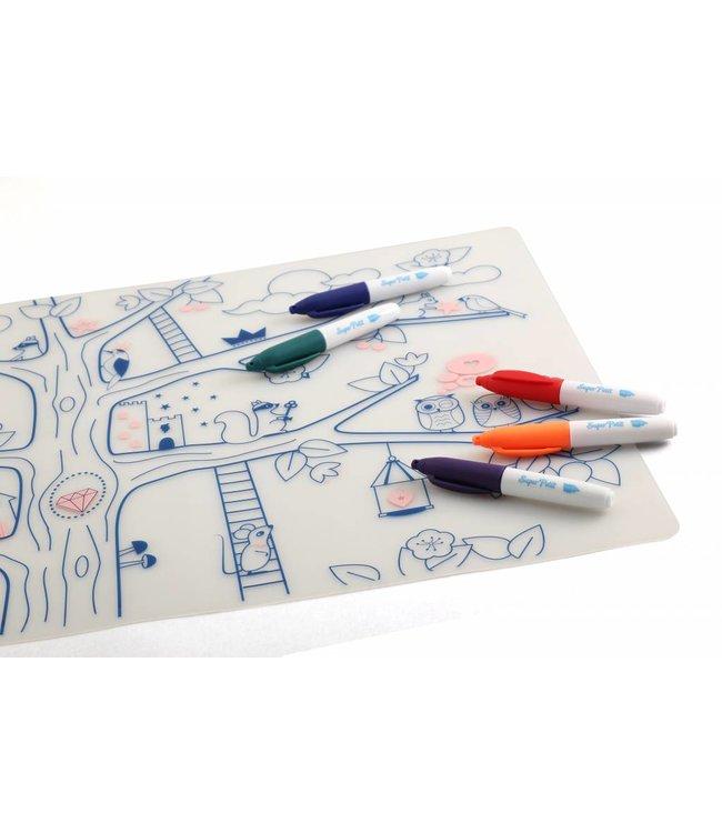 Super Petit Placemat met kleurtjes - Magic Tree | Super Petit