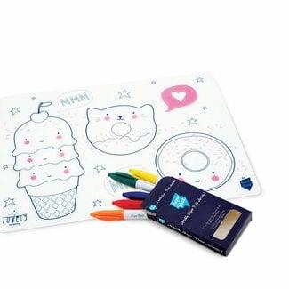 Super Petit Placemat met kleurtjes - SPECIAL EDITION Lovely | Super Petit