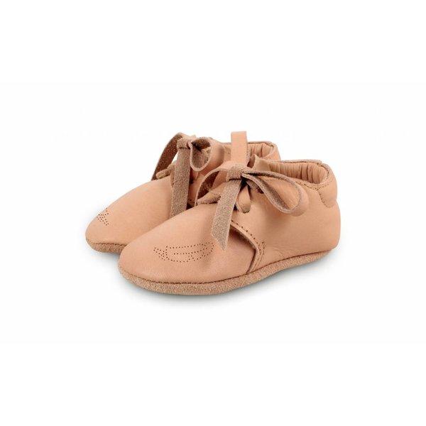Donsje Babyschoentjes Safari Skin met Veertje | Donsje