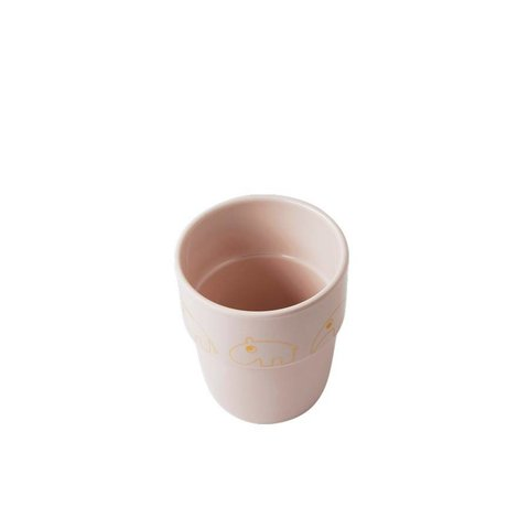 Drinkbeker Yummy Mug Contour - Goud Roze | Done by Deer