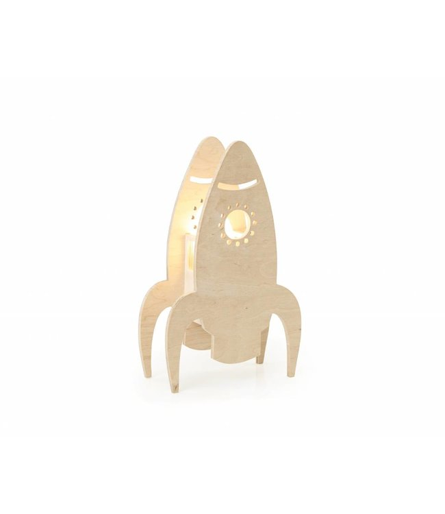 Miniwoo Houten Kinderlamp Raket  | Miniwoo
