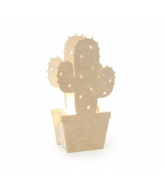 Miniwoo Houten Kinderlamp Cactus  | Miniwoo