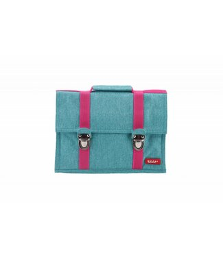 Bakker made with Love Kleuterboekentas / Schooltasje MB Cordura Happy Turquoise | Bakker made with love