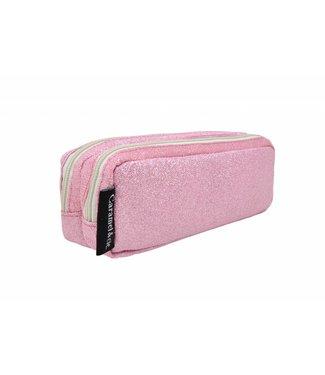 Caramel & Cie. Pennenzak glitter roze   Caramel & Cie