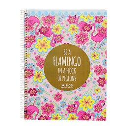 Notitieboek met harde kaft Flamingo | Rice