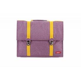 Bakker made with Love Boekentas / Schooltas Groot Cordura Happy Purple   Bakker made with love