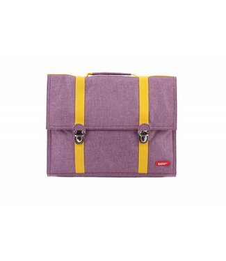 Bakker made with Love Boekentas / Schooltas Groot Cordura Happy Purple | Bakker made with love
