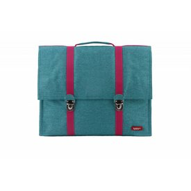 Bakker made with Love Boekentas / Schooltas XL Cordura Happy Turquoise   Bakker made with love