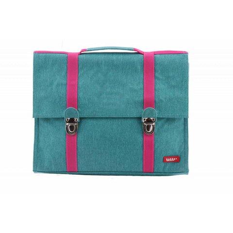 Boekentas / Schooltas Groot Cordura Happy Turquoise | Bakker made with love