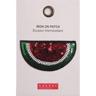 Bakker made with Love Iron On Patch Watermelon voor op Boekentas / Schooltas Cordura Happy | Bakker made with love