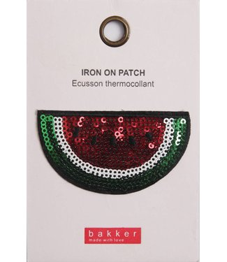 Bakker made with Love Iron On Patch Watermelon voor op Boekentas / Schooltas Cordura Happy | Bakker made with love
