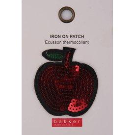 Bakker made with Love Iron On Patch Apple voor op Boekentas / Schooltas Cordura Happy   Bakker made with love