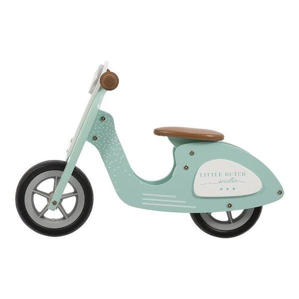 Little Dutch Houten Loopfiets Scooter Mint   Little Dutch