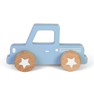 Little Dutch Houten Auto Pick up Mixed Stars Lichtblauw   Little Dutch