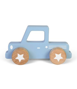 Little Dutch Houten Auto Pick up Mixed Stars Lichtblauw | Little Dutch
