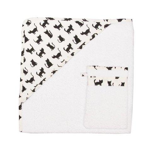 Badcape en washandje - Cats | Trixie Baby