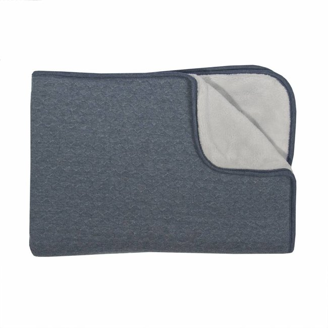 Trixie Baby Fleece Dekentje (75 x 100 cm) - Midnight Blue | Trixie Baby