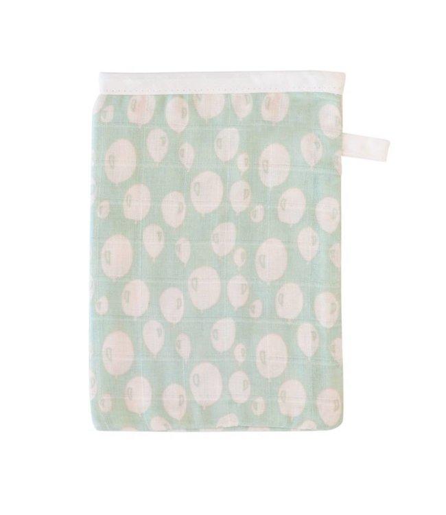 Trixie Baby Set van 3 Tetrawashandjes - Balloon Turquoise | Trixie Baby