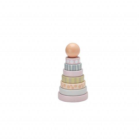 Stapelbare Ringen Edvin - Roze | Kid's Concept