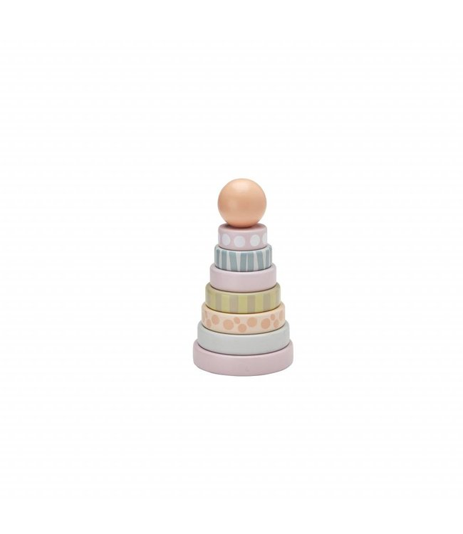 Kid's Concept Stapelbare Ringen Edvin - Roze | Kid's Concept