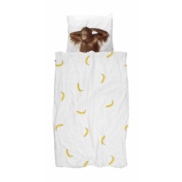 Snurk Eenpersoons Dekbedovertrek Banana Monkey | Snurk