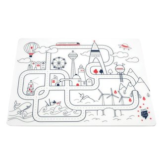 Super Petit Placemat met stiften - City | Super Petit