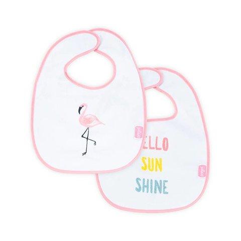 Slabbetje Flamingo - Set van 2 | Jollein