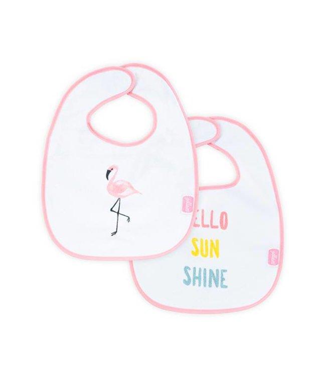 Jollein Slabbetje Flamingo - Set van 2 | Jollein
