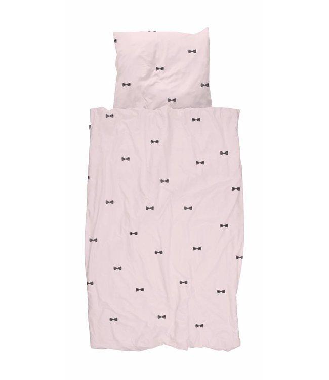 Snurk Snurk | Dekbedovertrek Bow Tie Pink 140x200/220cm