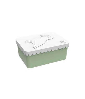 Blafre Brooddoos/lunchbox Vogel wit-groen | Blafre