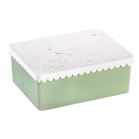 Brooddoos/lunchbox Ijsbeer wit-groen   Blafre