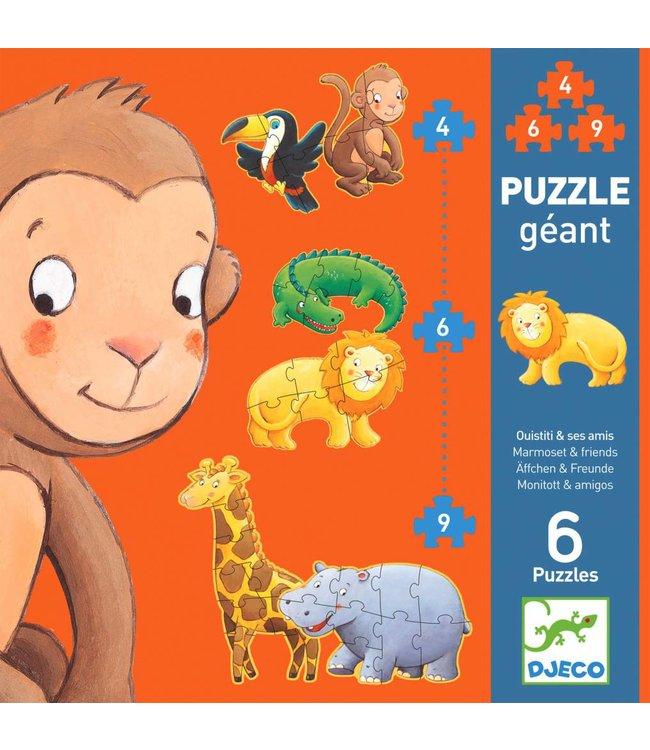 Djeco Puzzel XL Jungle   Djeco