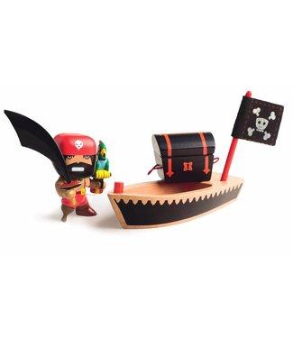 Djeco Djeco | Arty Toys PIRAAT El Loco met Piratenboot