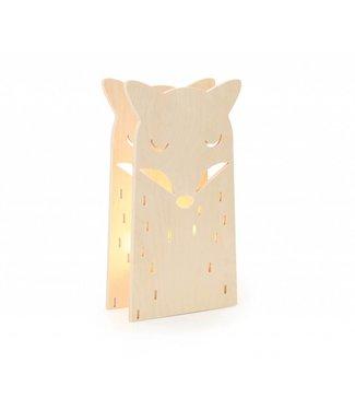Miniwoo Houten Kinderlamp vosje | Miniwoo