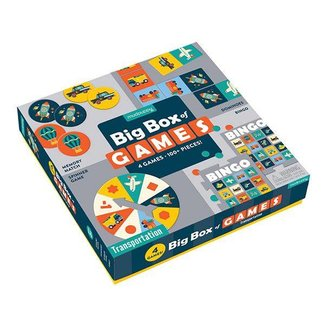 Mudpuppy Mudpuppy |  Big Box of Games  4 in 1  - Transportation