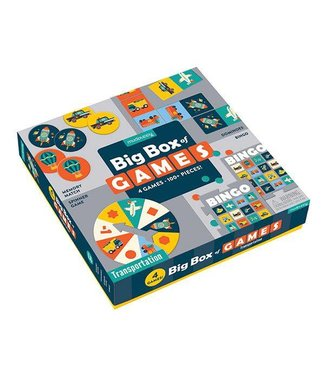 Mudpuppy Mudpuppy |  Big Box of Games  4 in 1  - Transportation