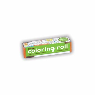 Mudpuppy Mudpuppy | Mini Coloring Roll - Animals of the World