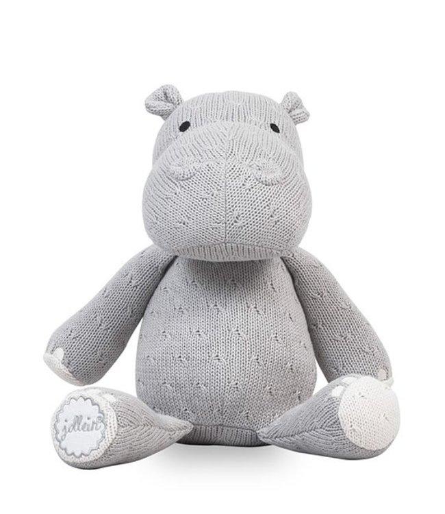 Jollein Knuffel Hippo / Nijlpaard - Light Grey | Jollein