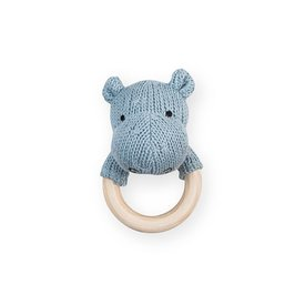 Jollein Rammelaar / Bijtring Hippo - Soft Blue | Jollein
